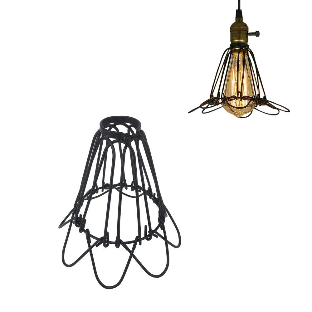 STGLIGHTING Industrial Vintage Metal Bulb Guard Open Style