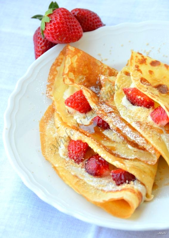 Crepes dolci alle fragole