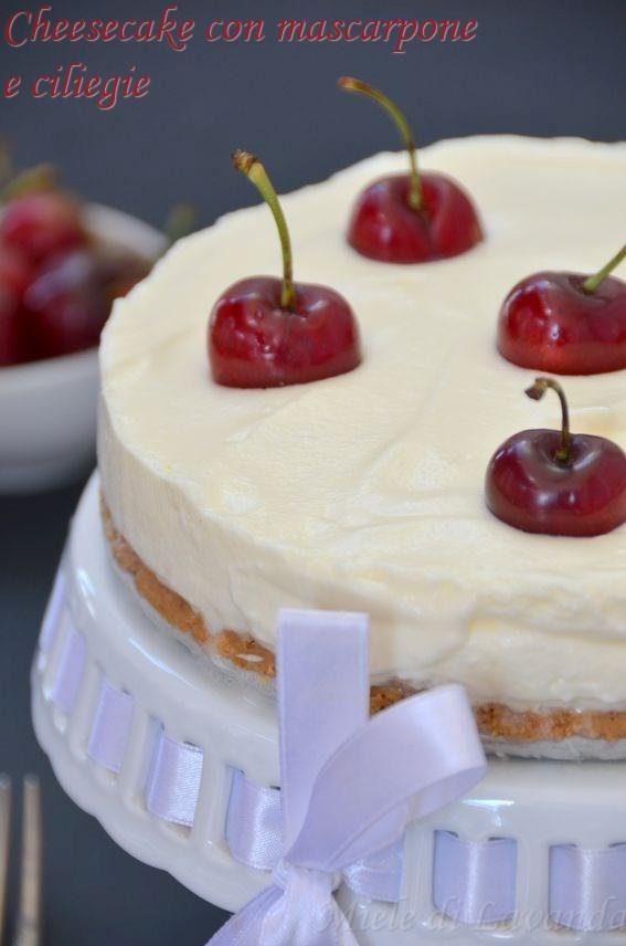 cheesecake mascarpone e ciliegie