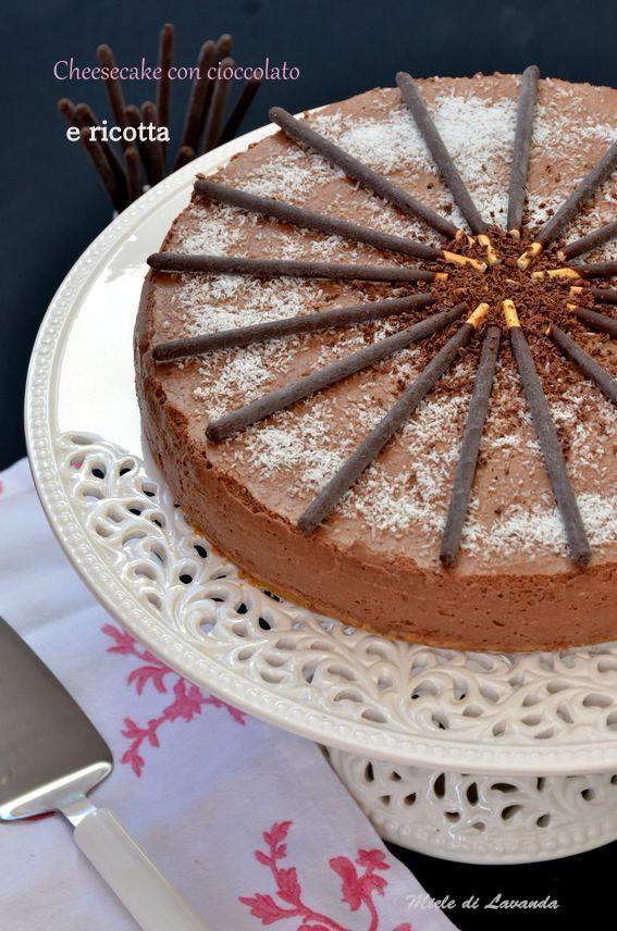 Cheesecake con cioccolato e ricotta