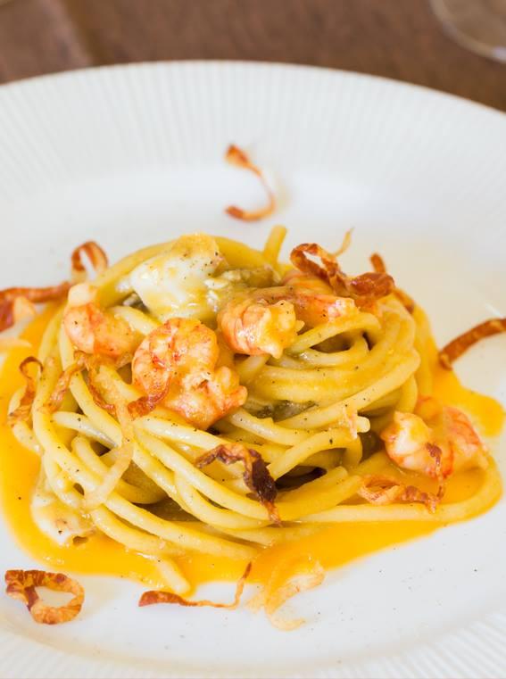 Spaghettone con pomodoro giallo