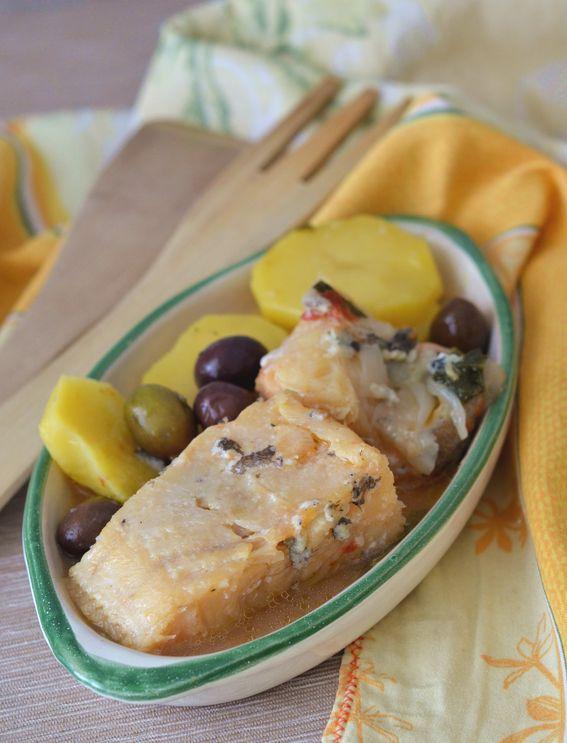 Baccala in umido con le patate e olive