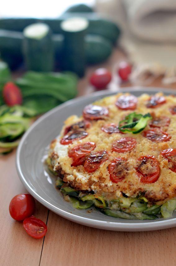 Sformato di zucchine al forno con ricotta e pomodorini