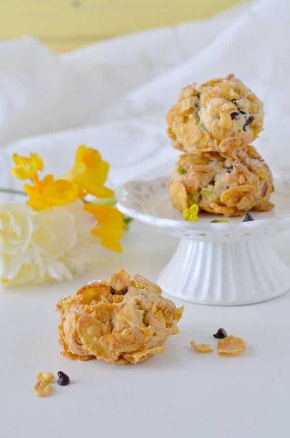Rose del deserto biscotti di corn flakes e gocce di cioccolato SENZA BURRO