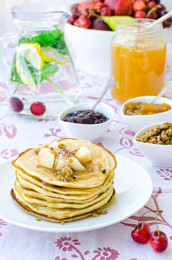 Pancake senza burro con lievito naturale o pasta madre