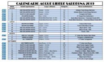 Fin Nuoto Calendario Gare.Acque Libere 2018 Pronti Nuotatori Sardi