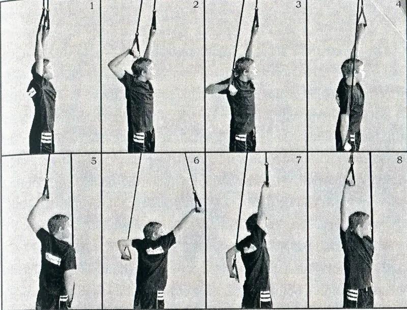 dorso allenamento a secco con elastici Strechcordz