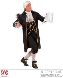 Compositore - giacca lunga con gilet, jabot, pantaloni, fibbie - cod. 9009
