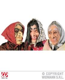 Maschera strega con foulard e capelli - cod. 1316W