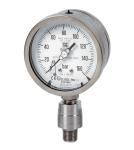 Manometri solid-front a molla tubolare, esecuzione NACE MR0175 / ISO 15156- 3, DN100- 150