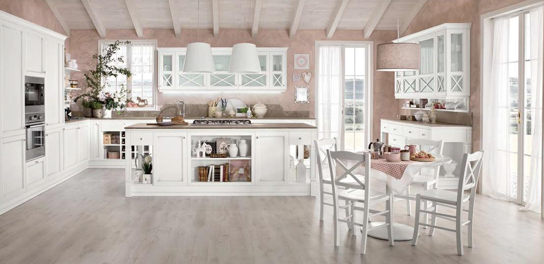 Cucine provenzali moderne in stile shabby chic e country