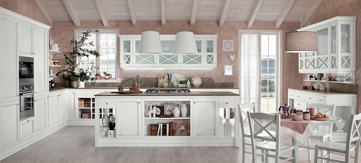 Cucina Sinfonia Colombini in stile shabby moderno