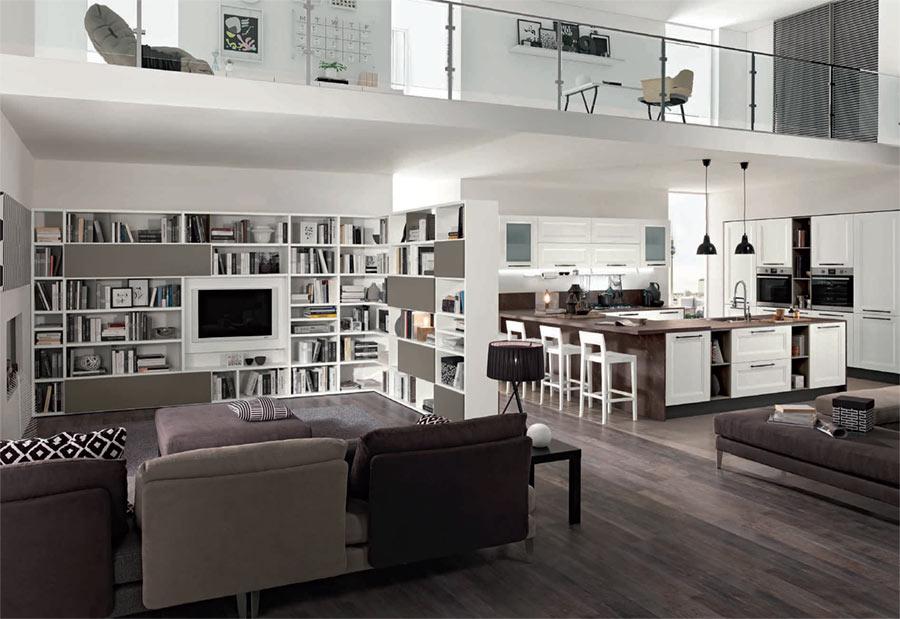 La cucina con isola o penisola è ideale per gli open space perché permette di delimitare gli ambienti in maniera graduale. Cucine Open Space Moderne Ambiente Cucina Soggiorno