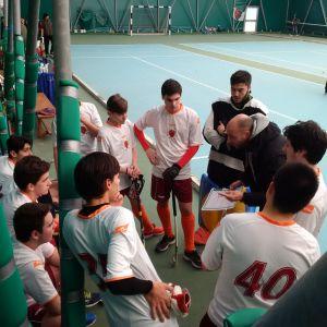 gli under 18 a rapporto da coach Mongiano