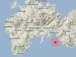 terremoto turchia bodrum mappa