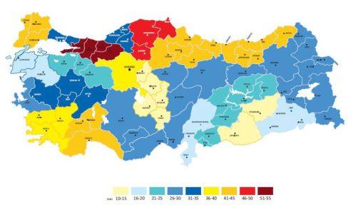mappa 3 - distribuzione numero libri per abitazione