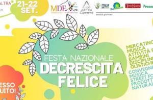 Torna la Festa nazionale della Decrescita Felice @ Citta' Dell' Altra Economia - Largo Dino Frisullo snc, 00153 Roma