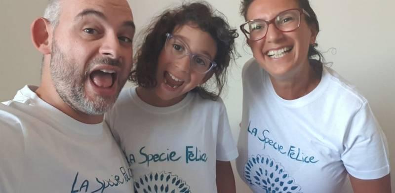 La Specie Felice, Matteo Ficara e Lara Lucaccioni con la figlia