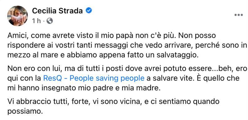 Cecilia Strada, Gino Strada