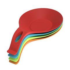 Kitchen Spoon Rest Travertine Floor Nuovoware 4pck Premium Silicone Utensil Holder Set Food Grade Heat Resistant Flexible Stove Counter Top