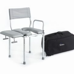 Shower Chair Vs Tub Transfer Bench Reupholster Dining Mc3000tx Travel Commode And Stationary Back To Products
