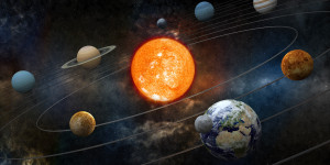 Planets orbit the sun- close up