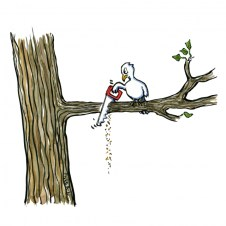 Bird Soul Cutting Tree Sitting Branch Breaking Oath Bayat Allegiance