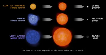 Star Mass determins what it changes to
