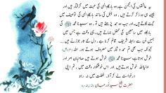 Urdu – Ashiqeen are like nightingales praising upon the Divinely