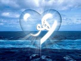 clear heart over ocean-Hu-shining light