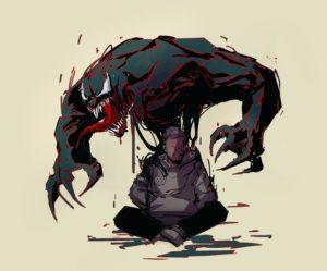 demon on person, negative energy