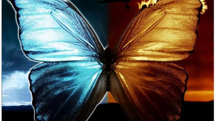 good vs evil butterfly fire & cool wings, energy