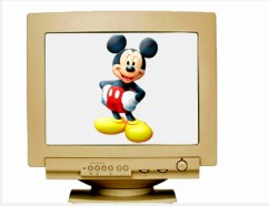 mickey mouse on computer