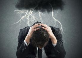 negative-energy-lightning-black cloud-over-man, protection, bad energy, attack