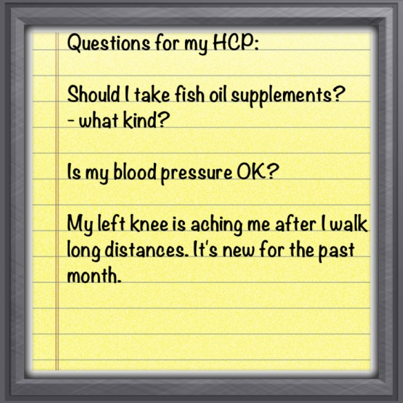 HCP questions