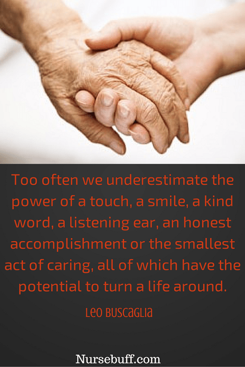 buscaglia inspirational nursing quotes
