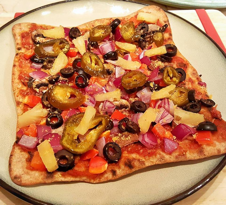 Plant-Based Vegan Veggie Pizza