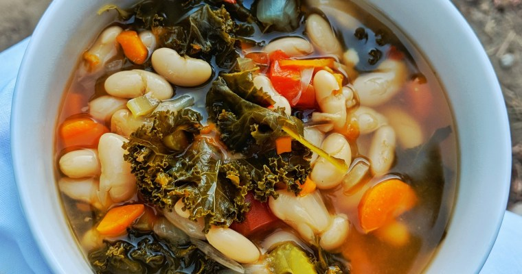 Vegan Instant Pot White Bean and Kale Soup