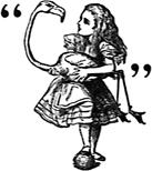 ABC Poem Alice in Wonderland Alice's Alphabet Rhymes