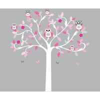 Tree And Owl Wall Stickers - [peenmedia.com]