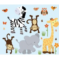 jungle animal wall decals Gallery