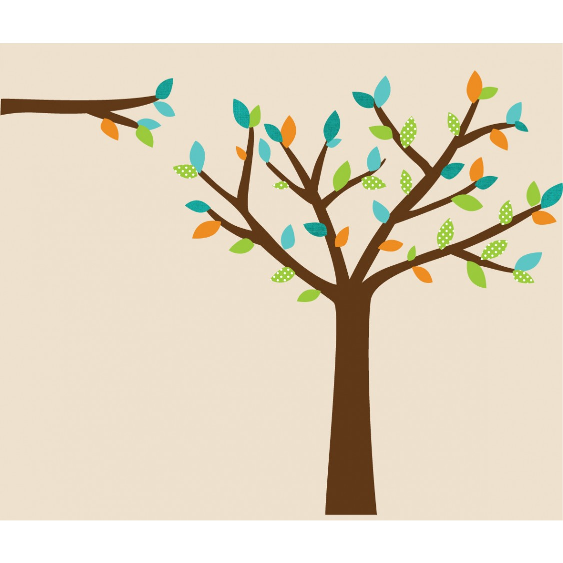 Teal Tree Wall Decal For Children