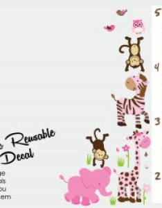 Wild animals safari spring height wall chart decal also jungle theme decals and for nursery room rh nurserydecalsandmore
