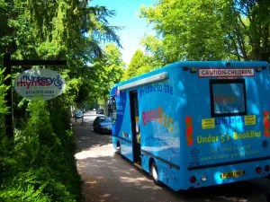 Book bus visits the Children at Nursery Rhymes