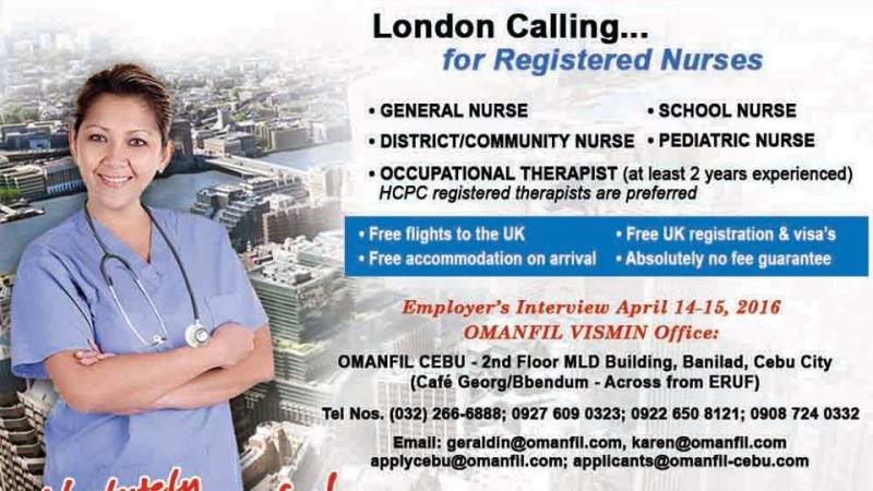 Omanfil International hiring nurses for Central London Community Healthcare NHS
