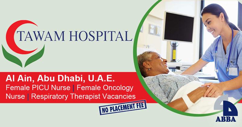 Tawam Hospital in UAE hiring nurses, respiratory therapists
