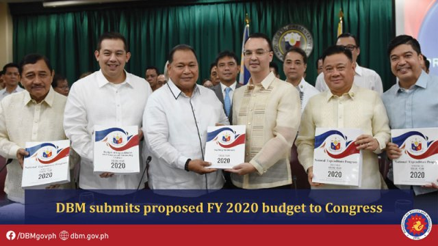 DBM Acting Secretary Wendel E. Avisado submits the proposed FY 2020 national budget to the House of Representatives, thru House Speaker Alan Peter S. Cayetano.
