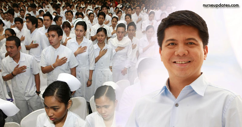 Solon pushes for P60,000 salary of nurses to make them stay