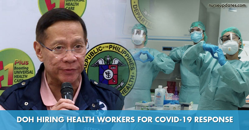 DOH hiring 857 nurses, other health workers for COVID-19 response
