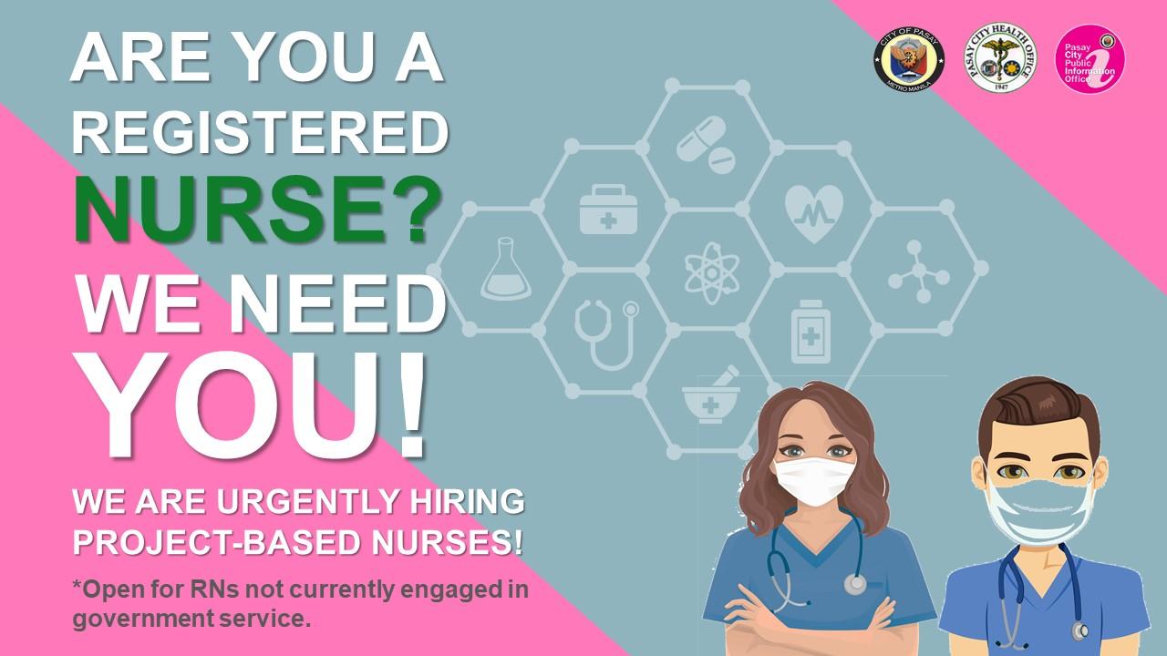 Pasay City hiring registered nurses for P3,000 per day salary
